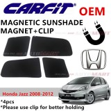 CARFIT OEM Magnetic Custom Fit Sunshade For Honda Jazz Yr 2008-2012 (4pcs Sets)